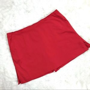 Talbots Skort Shirts/Skirt 20 Red Stretch Pockets